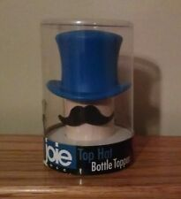 New listing New Silicone Joie Blue Top Hat Wine Bottle Topper Stopper Cork Replacement Nip