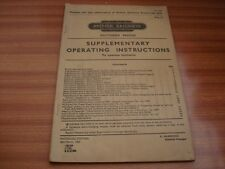 SOUTHERN REGION BRITISH RAILWAYS SUPPLEMENTARY OPERATING INSTRUCTION B.R. 31300