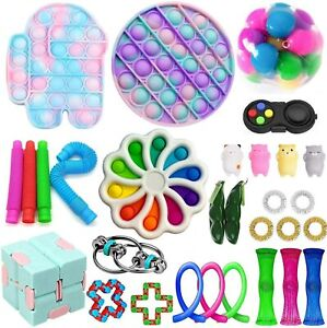 30 PCS Fidget Toys Pack Anti Stress Toy Set Strings Marble Relief Gift for Kids