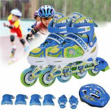 Kids Adjustable Inline Skates Roller Blades Light Up Scale w/Illuminating Wheels