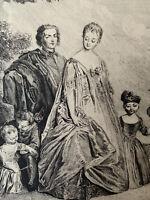 Antoine Wateau gravure eau forte etching Portrait Peintre Graveur Mercier