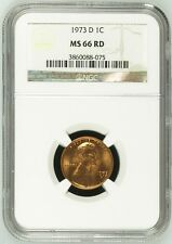 1973 D Lincoln Cent NGC MS 66 RD