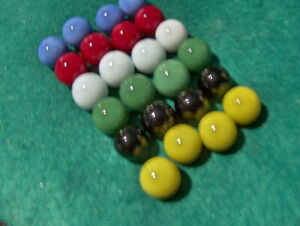 24 GLASS Color Replacement Marbles Chinese Checkers Aggravation  4/12