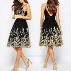 Womens Boho Summer Lace Floral Evening Party Cocktail Casual Short Mini Dress