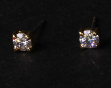 Classic & Elegant - Diamanté Encrusted & Golden Metal Stud Earrings (Zx207)