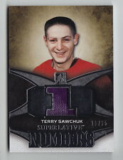 2015-16 ITG Superlative Terry Sawchuk Silver Numbers Jersey (11/15)
