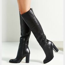 SAM EDELMAN Sale New Regina Tall Knee High Heeled Leather Riding Boots Black 5