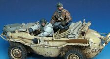 1/35 Scale Resin Figures WWII German floating car crew ( car is not included )