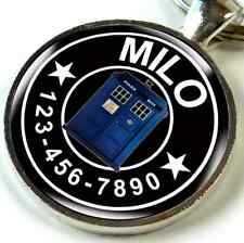 Pet Id Tags Custom Personalized dog cat tag Dr Who Phone Booth
