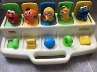 VTG Playskool Sesame Street Poppin Pals Pop Up Toy 1992 Jim Henson Productions