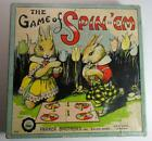 VINTAGE 1930'S GAME OF SPIN-EM RABBITS BUNNY MOTIF PARKER BROTHERS #653 TOP GAME