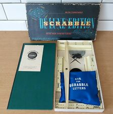 Vintage Scrabble Deluxe, Spears Games, Boxed, Complete, 1958