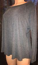 Tommy Hilfigher Sport Women's Grey luxurious Soft Long Sleeve Loose Fit sz S