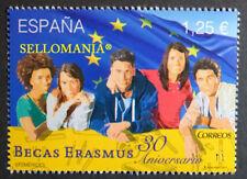2017 30 ANIVERSARIO BECAS ERASMUS  ** MNH  SCHOLARSHIPS BANDERA EU UE    TC20815