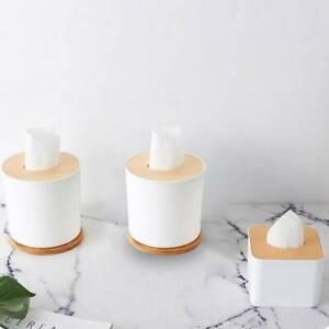 Home Kitchen Wooden Plastic Tissue Box Cover Solid Wood Napkin Holder  *