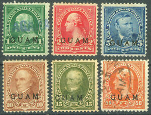 United States Possession of Guam 1899, Presidents Classic Stamps MH/Used