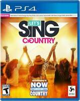 Let's Sing Country Standard Edition - PlayStation 4 PS4 NEW