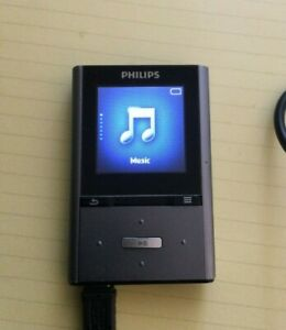 Philips GoGear Vibe 8GB Digital Media MP3 Player Music ** AS IS **