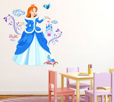 6900092 | Wall Stickers Princess with Castle and Shoe Cartoon Design