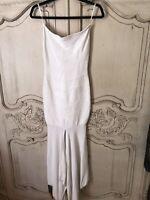 Herve Leger Alabaster White Strapless Bandage long dress size XS Rrp €1150