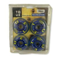 T12 TRUE Inline Skate Wheels Set of 4 72mm Blue Green New