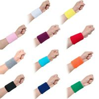 2 Stück Baumwolle Basketball Sport Schweißband Armband Laufen Badminton B Tw Ksy