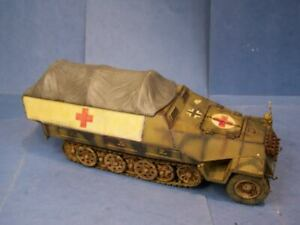 Custom German  1/18th Scale SDKFZ 251 Ambulance Tarp Cover Ultimate Soldier BBI