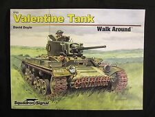 Squadron Book: Valentine Tank Walk Around - 250 photos, color profiles, line dr