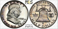 1955 Silver Franklin Half Dollar PCGS PR66 -- Awesome Coin with Light Rim Toning