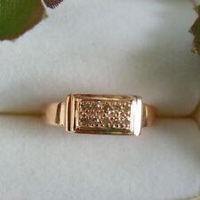 Schokoladen-Diamant Silberring / rosé vergoldet / Gr. 18 (Mit Zertifikat)