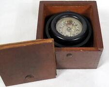 Vintage Wilcox-Crittenden Gimbal Nautical Ships Compass 1939 Black