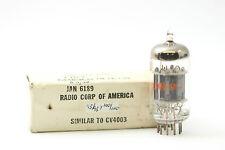 JAN 6189 TUBE. RCA BRAND BLACK PLATES 1960 PRODUCTION CRYOTREATED CH28V20F070616