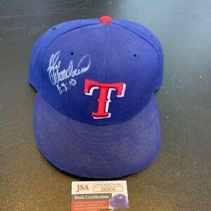 John Wetteland Signed Game Model Texas Rangers Baseball Hat Cap With JSA COA