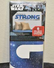 H 10 STARS WARS THE FORCE IS STRONG 6 WALL DECALS NEW