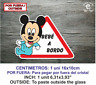 Sticker Vinilo Decal Vinyl Bebe a bordo LBB140 Mickey Baby por fuera on board