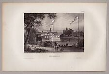 Ostpreussen, Königsberg, Kaliningrad - Gesamtansicht - Stahlstich 1850