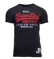 Superdry Mens New Vintage Logo Duo Short Sleeve Crew Neck Print T-Shirt Black