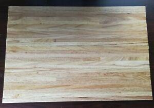 "Dollhouse Miniature Wood Flooring Wide Planks Light Oak Gloss Finish 18"" x 12"""