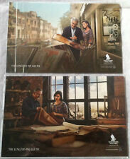 """Set of 2 Singapore Airlines Postcards """"The Length We Go"""" Post Card Lot New"""