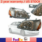 1 Pair Headlight For 2000 2001 2002 Toyota Echo Left & Right Side Factory Style