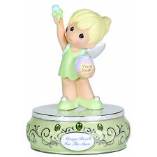 PRECIOUS MOMENTS Figurine DISNEY Girl Dressed TINKERBELL Music Gift Box Musical