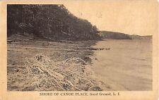 c.1915? Shore of Canoe Place Good Ground LI NY post card Hampton Bays