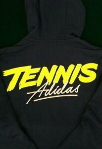 New w/tag Adidas Tennis Hoodie. Size: Men's M. Color: indigo/yellow