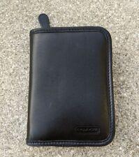 Coach Pda Zippered Cell Phone Case Palm Pilot Carrier Holder Black