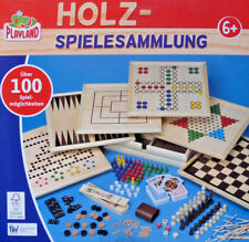 Holz- Spielesammlung über 100 Spielmöglichkeiten Familienspiele / NEU!