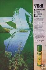 PUBLICITÉ 1977 DÉODORANT VIKA C'EST UN SECRET SCANDINAVE - SEINS - ADVERTISING