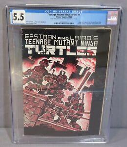 TEENAGE MUTANT NINJA TURTLES #1 (First Print, Signed) CGC 5.5 Mirage 1984 TMNT