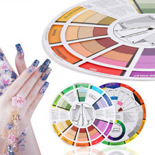 Professional Tattoo Nail Pigment 12 Color Wheel Paper Card Three-tier Design