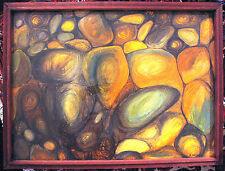 Australias Richard Bogusz &  his original oil titled 'Boulders'.