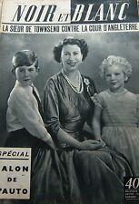 ANGLETERRE MARGARET et ses ENFANTS en COUVERTURE de NOIR et BLANC No 605 de 1956